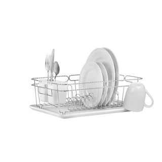 3 Piece Chrome Twisted Dish Rack
