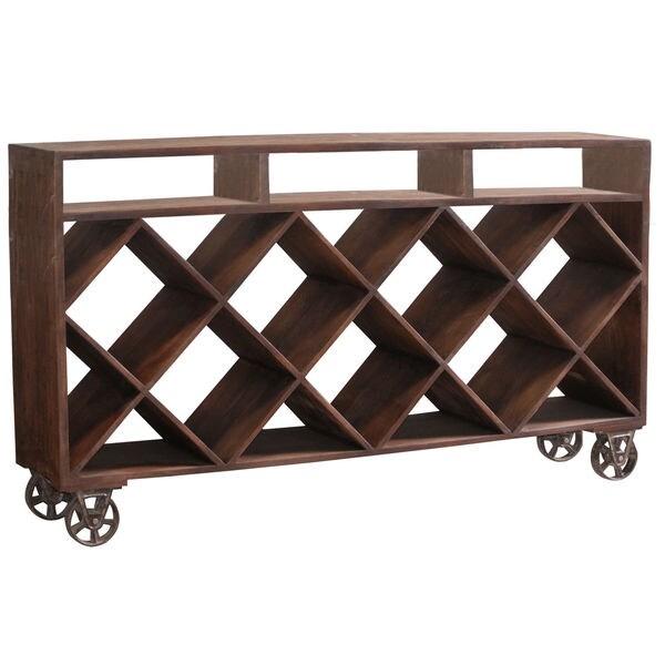 Ruthe Wheeled Wine Rack/ Display Case
