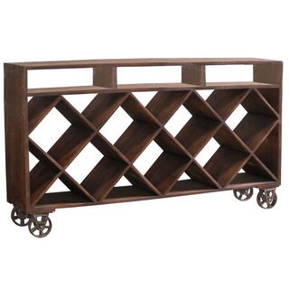 Ruthe Wheeled Wine Rack/ Display Case