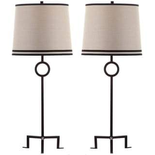 Thom Filicia Indoor 1-light Blacksmith Bronze Shotwell Table Lamp (Set of 2)