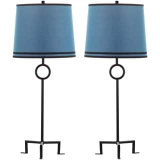 Thom Filicia Indoor 1-light Midnight Black Shotwell Table Lamp (Set of 2)