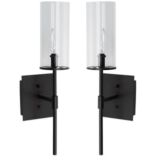 Thom Filicia Indoor 1-light Midnight Black Sunnycrest Wall Sconce (Set of 2)