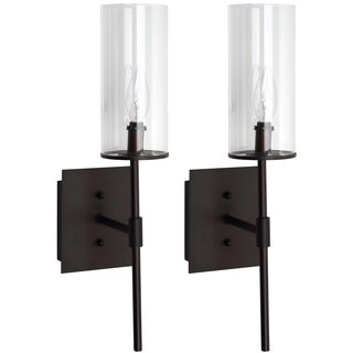 Thom Filicia Lighting 18.5-inches Blacksmith Bronze Sunnycrest Wall Sconce (Set of 2)