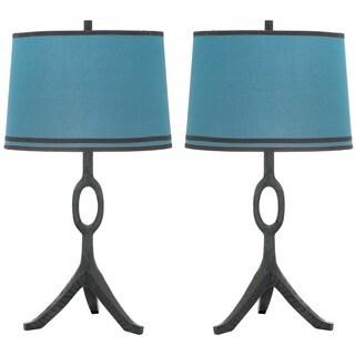 Thom Filicia Indoor 1-light Dusk Blue Packwood Table Lamp (Set of 2)