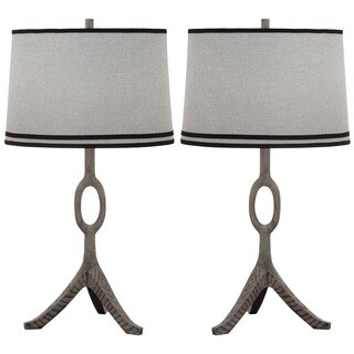 Thom Filicia Indoor 1-light Driftwood Grey Packwood Table Lamp (Set of 2)