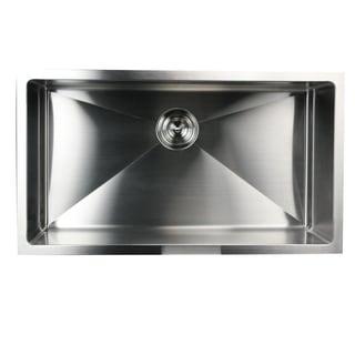 32 Inch Small Radius Undermount 16-Gauge Stainless Steel Kitchen Sink with Drain