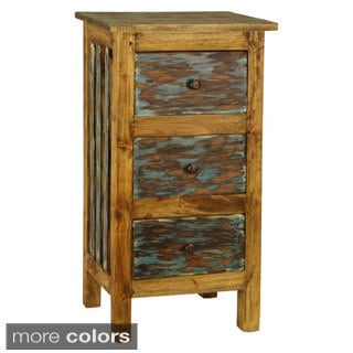 Hand-crafted Lyon 3-drawer Shabby Chic Cabinet