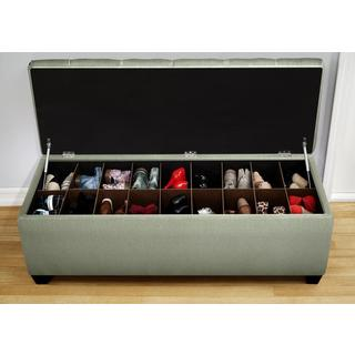 The Sole Secret Shoe Storage Bench - Candice Seafoam