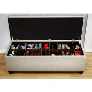 The Sole Secret Shoe Storage Bench - Sand
