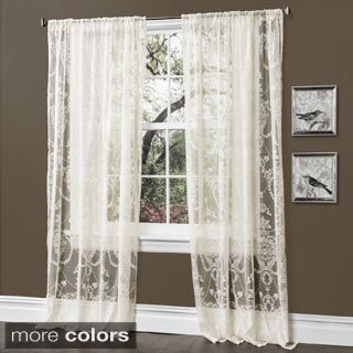 Lush Decor Anya 84-inch Sheer Curtain Panel Pair