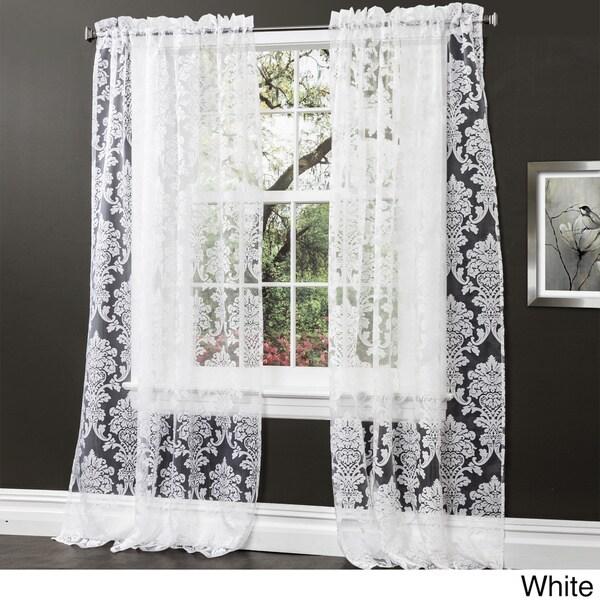 Lush decor brea 84 inch sheer curtain panel pair 16306017