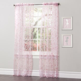 Lush Decor Briana 84-inch Sheer Curtain Panel Pair