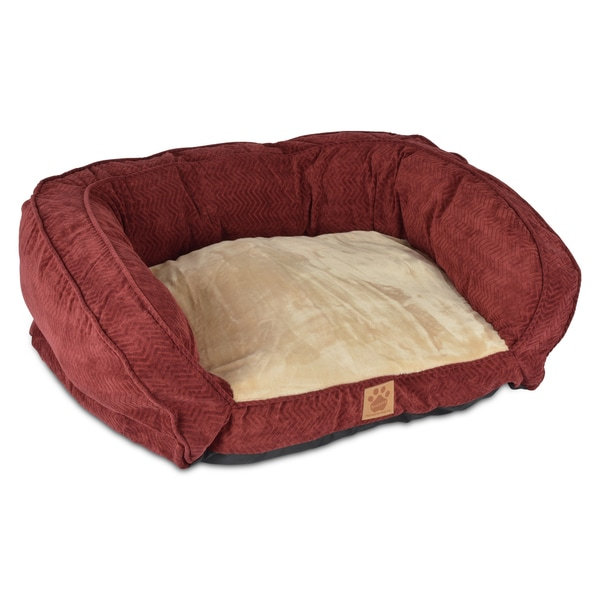 SnooZZy Burgundy Gusset Couch Pet Bed