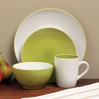 Sofia Green/ White 16-pice Dinnerware Set