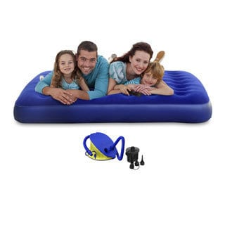 Queen-size Blue PVC Air Mattress
