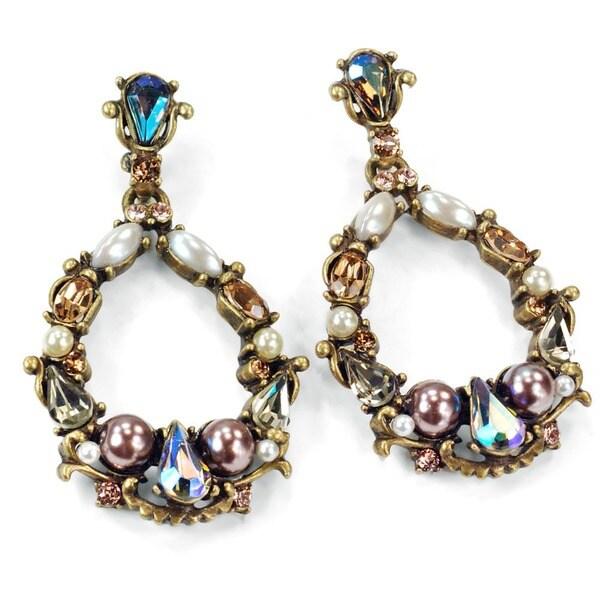 Sweet Romance Encrusted Hoop Earrings