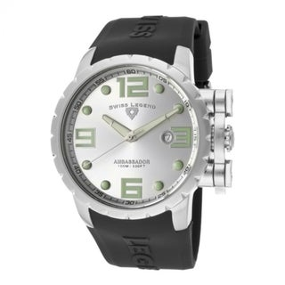 Swiss Legend Men's SL-30021-02S Ambassador Black/ Silver Watch