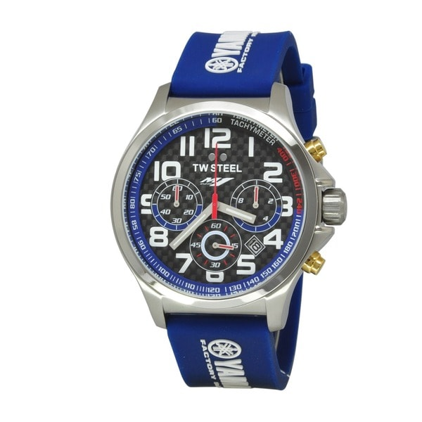 TW Steel Men's 'Yamaha Factory Racing' Stainless Steel Chronograph and Tachymeter TW926 Watch