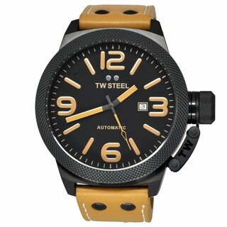 TW Steel Men's TWA203 Canteen Brown Leather Automatic Watch