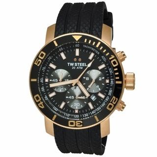TW Steel Men's 'Grandeur Diver' Rose Gold PVD Stainless Steel Chronograph TW703 Watch
