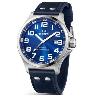 TW Steel Men's TW401 'Pilot' Blue Dial Watch