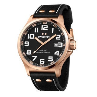 TW Steel Men's 'Pilot' Rose Gold PVD Stainless Steel Date TW417 Watch