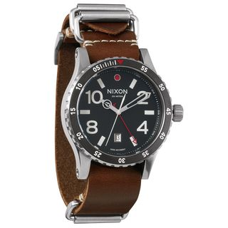 Nixon Men's A269-019 'The Diplomat' Brown Leather Watch