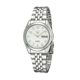 Seiko Men's SNK377K1 'Automatic 5' Stainless Steel Watch