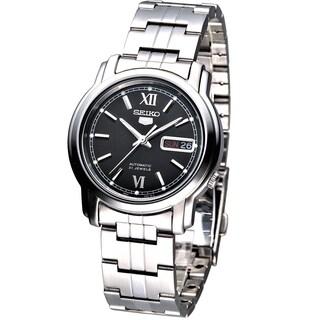 Seiko Men's SNKK81K1 5 Black Dial Stainless Steel Watch