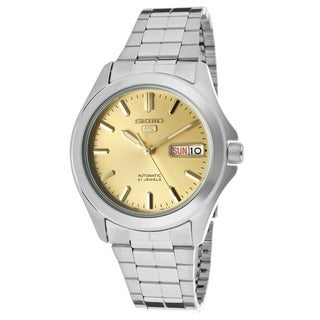 Seiko Men's SNKK91K1 5 Gold Dial Watch