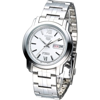 Seiko Men's SNKK77K1 5 White Dial Stainless Steel Watch