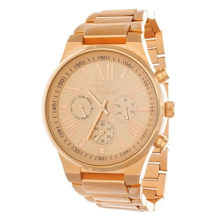 Steel by Design Women's Rose Goldtone Stainless Steel Watch