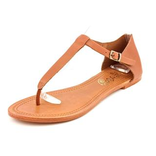Naughty Monkey Women's 'Poppy' Leather Sandals