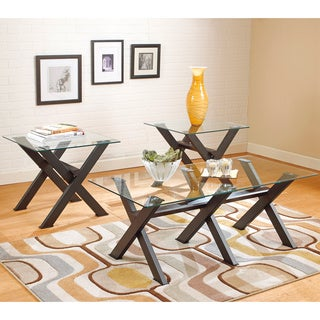 Signature Designs by Ashley Dirteck Metal X-frame Occasional Table Set (Set of 3)