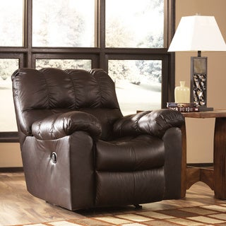 Signature Designs by Ashley Max Chocolate Swivel Rocker Recliner