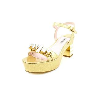 Miu Miu Women's 'Vernice Galaxy' Patent Leather Sandals (Size 8 )