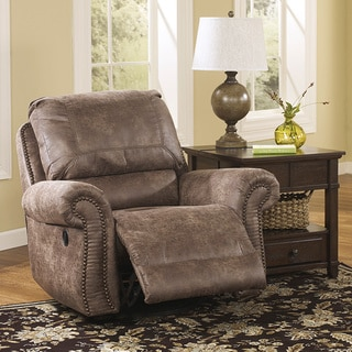 Signature Design by Ashley Oberson Brown Swivel Glider Recliner