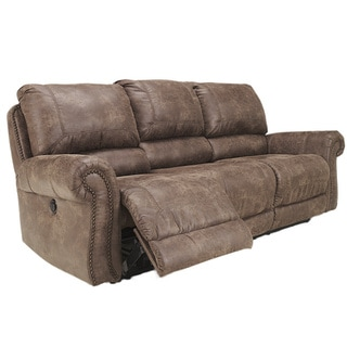 Signature Design by Ashley Oberson Brown Reclining Power Sofa