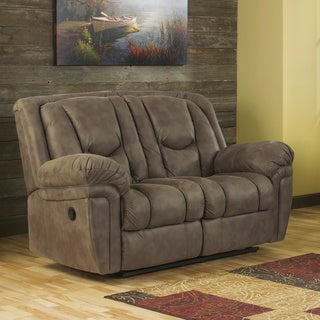 Signature Design by Ashley Blagden Tan Reclining Power Loveseat