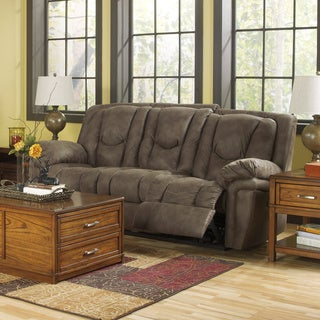 Signature Design by Ashley Blagden Tan Reclining Power Sofa