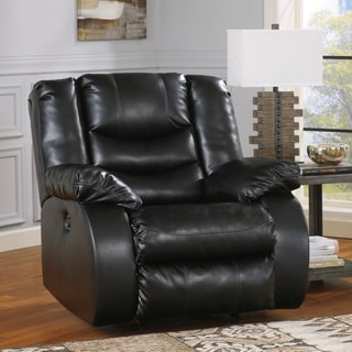 Signature Design by Ashley Linebacker DuraBlend Black Power Rocker Recliner