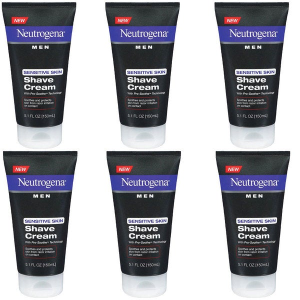 Neutrogena Men Sensitive Skin 5.1-ounce Shave Cream (Pack of 6)
