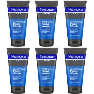 Neutrogena Men Invigorating 5.1-ounce Face Wash (Pack of 6)