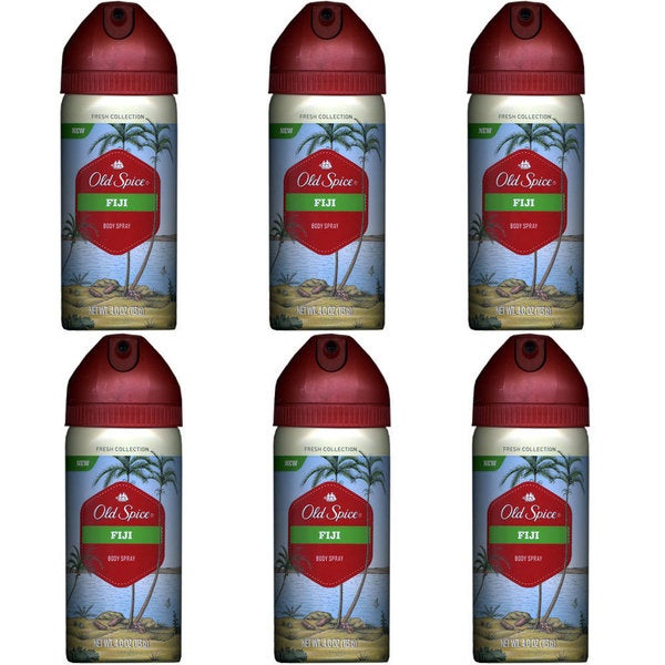Old Spice Fresh Collection 4-ounce Fiji Scent Body Spray (Pack of 6)