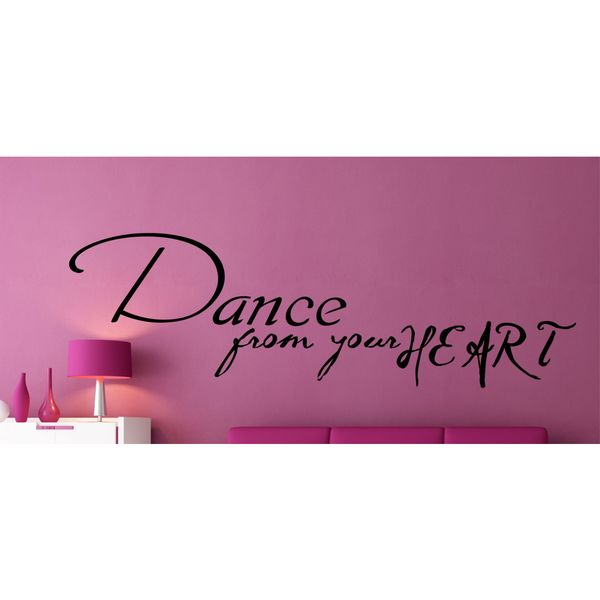 Dance From Your Heart Vinyl Wall Art