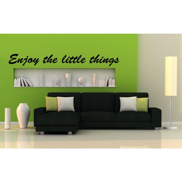 Enjoy The Little Things Vinyl Wall Art