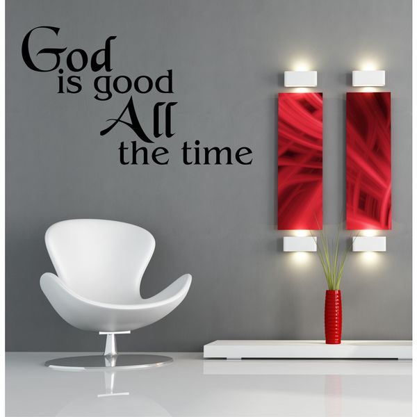God Is Good Vinyl Wall Art