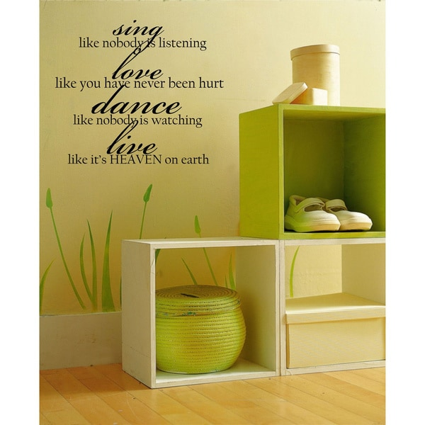 Sing, Love, Dance, Live Vinyl Wall Art