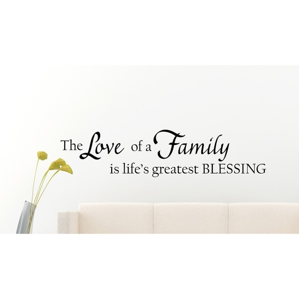 Love of A Family Vinyl Wall Art