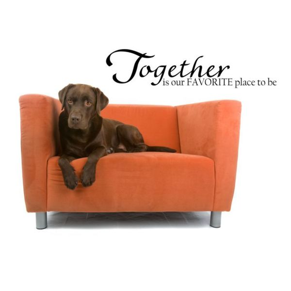 Together Is My Favorite Place Vinyl Wall Art